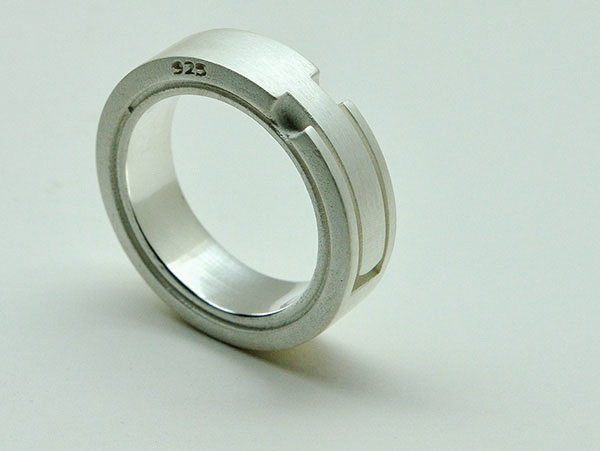 Schwalbenschwanz-Ring, Silber : lepompier-schmuckdesign